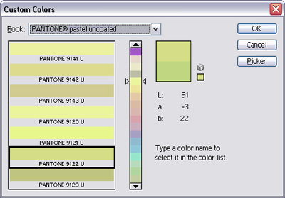 Custom Colors Dialog